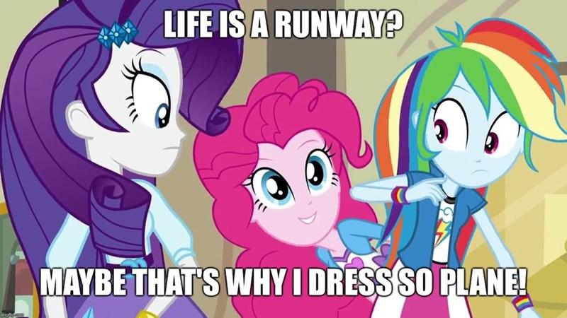 equestria girls screencap pinkie pie life is a runway rarity rainbow dash friendship games - 9371653376
