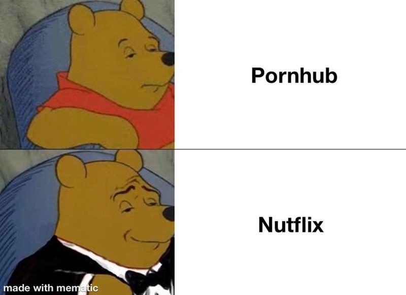Cartoon - Pornhub Nutflix made with mematic