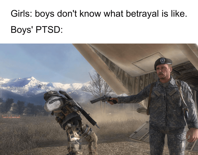 This Call Of Duty Meme Is All About Ultimate Betrayal Memebase