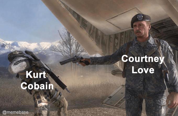 Action-adventure game - UEARM Courtney Love Kurt Cobain @memebase