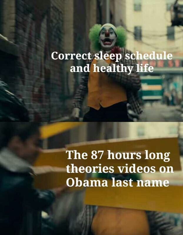 Photo caption - Correct sleep schedule and healthy life The 87 hours long theories videos on Obama last name