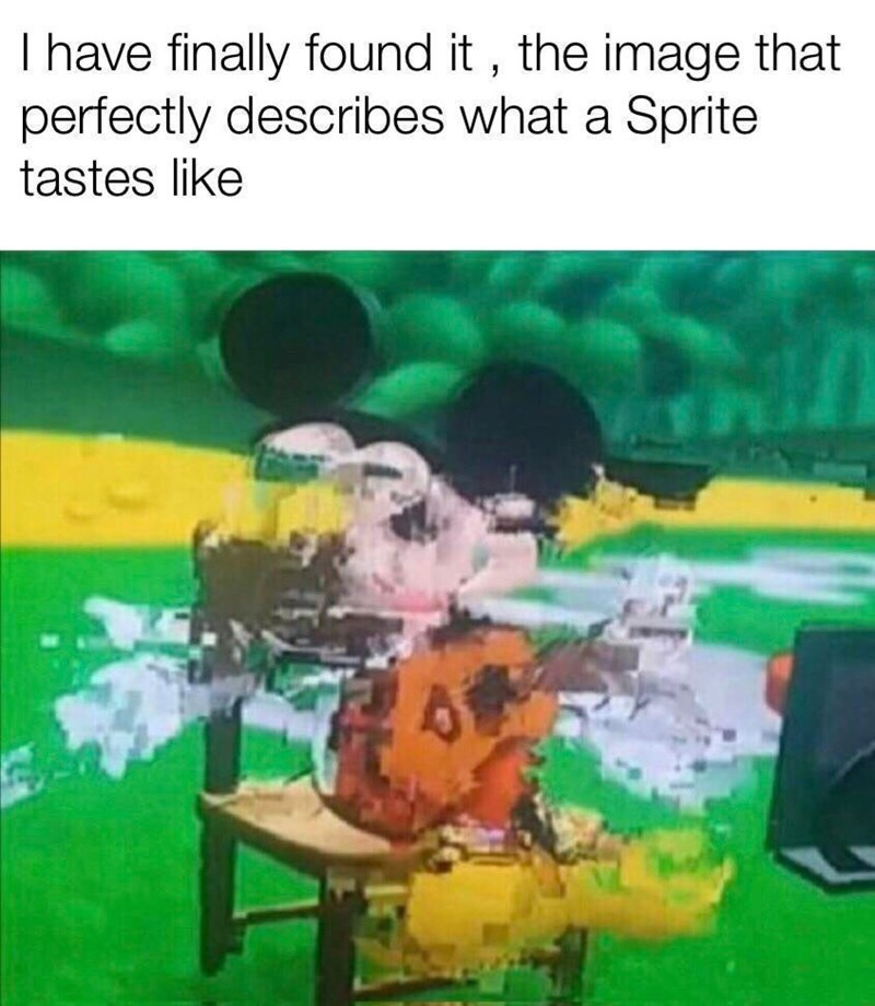 Cartoon - I have finally found it, the image that perfectly describes what a Sprite tastes like
