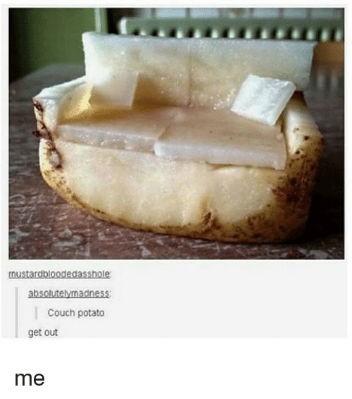 Furniture - mustardbloodedasshole absolutelymadness Couch potato get out me