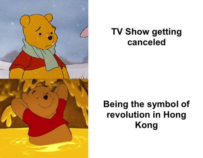 Cartoon - TV Show getting canceled Being the symbol of revolution in Hong Kong