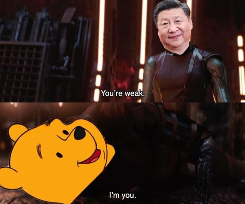 Yellow - You're weak I'm you.