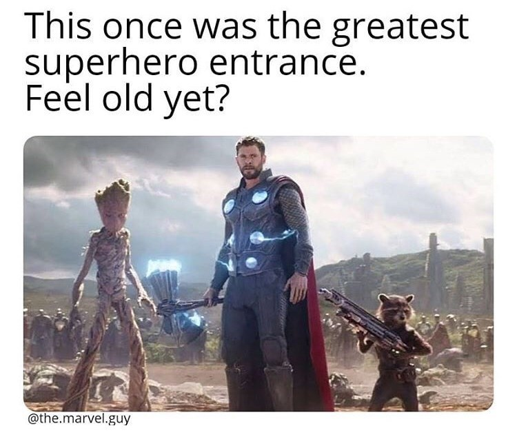 Human - This once was the greatest superhero entrance. Feel old yet? @the.marvel.guy