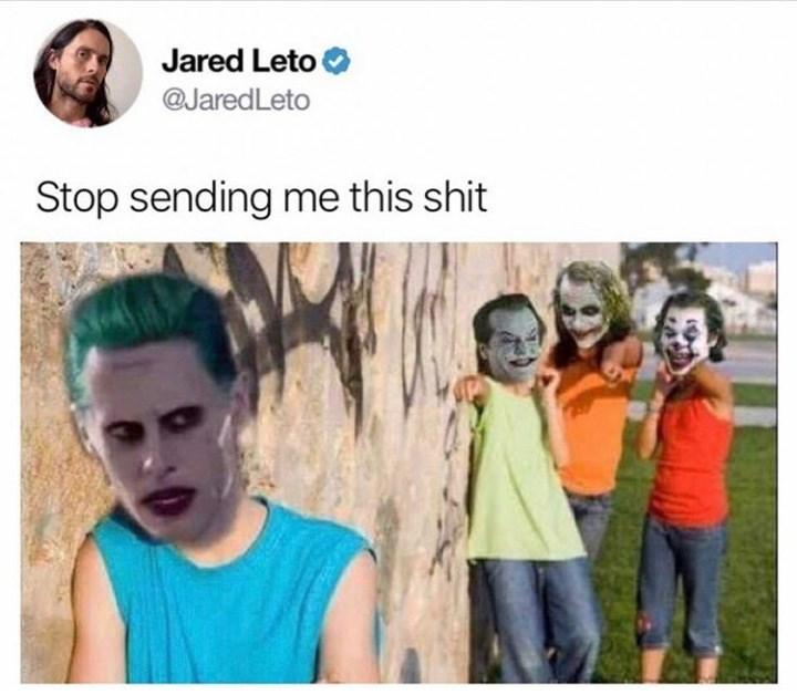 Face - Jared Leto @JaredLeto Stop sending me this shit