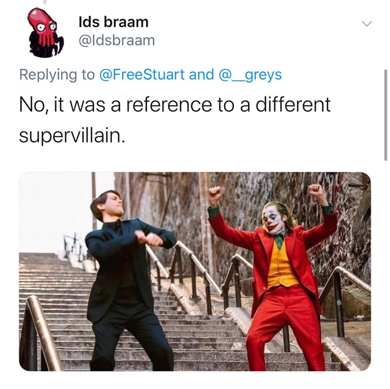 Photography - Ids braam @ldsbraam Replying to @FreeStuart and @_greys No, it was a reference to a different supervillain