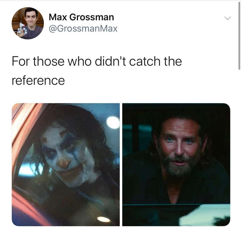 Face - Max Grossman @GrossmanMax For those who didn't catch the reference