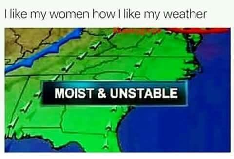 Ecoregion - 1 like my women how I like my weather MOIST & UNSTABLE