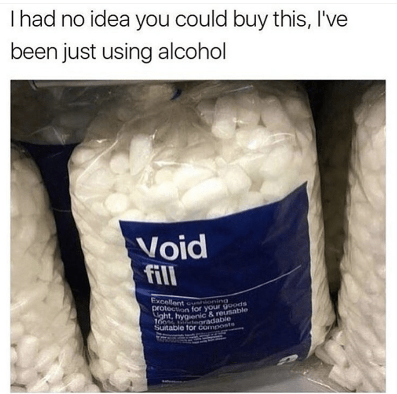 Product - Ihad no idea you could buy this, I've been just using alcohol Void fill Excellent ioning protection for your goods oht, hygienic &reusable 100 aradable Suitable for composts