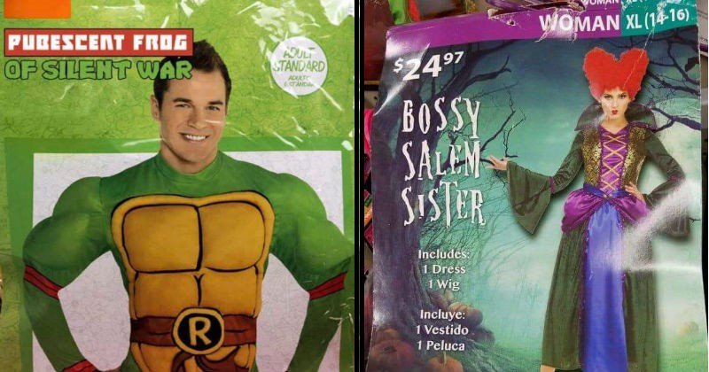 Funny costumes names that avoid infringing copyright law.