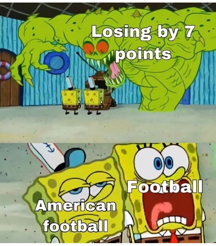 Cartoon - Losing by 7 points Football American football