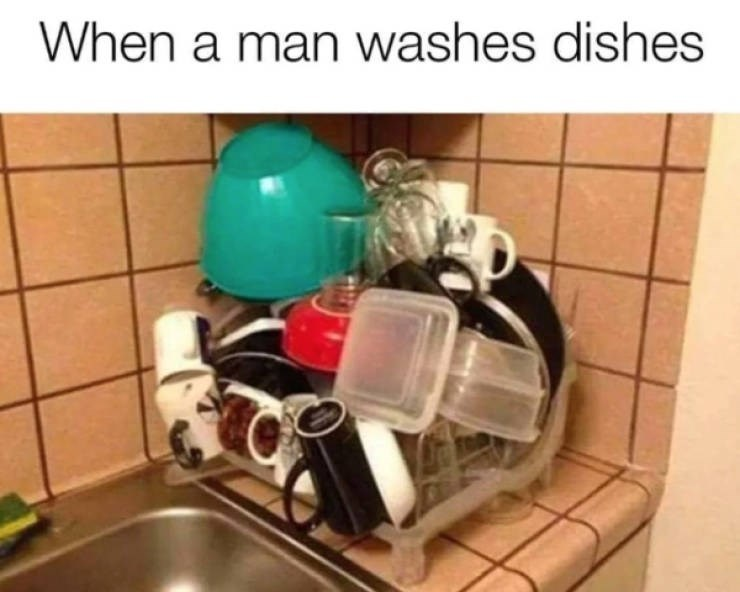 Product - When a man washes dishes