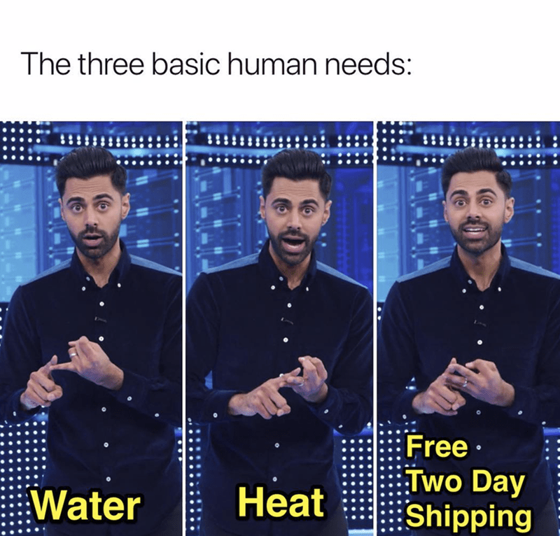 Album cover - The three basic human needs: Free Two Day Shipping Heat Water