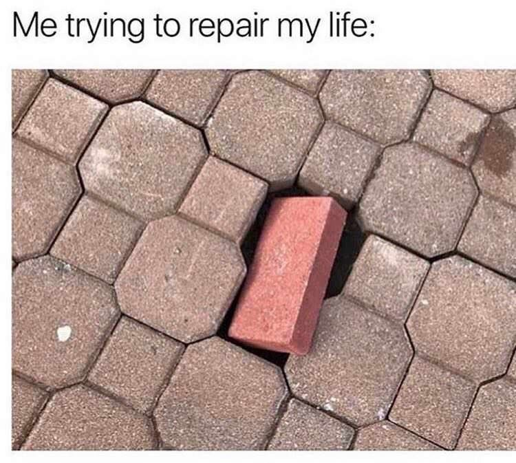 Brick - Me trying to repair my life: