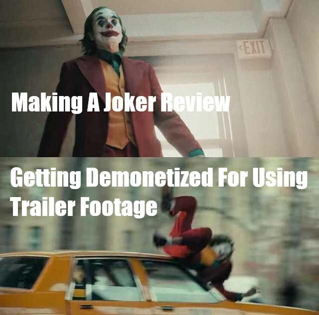 Fictional character - EXIT Making A Joker Review Getting Demonetized For Using Trailer Footage