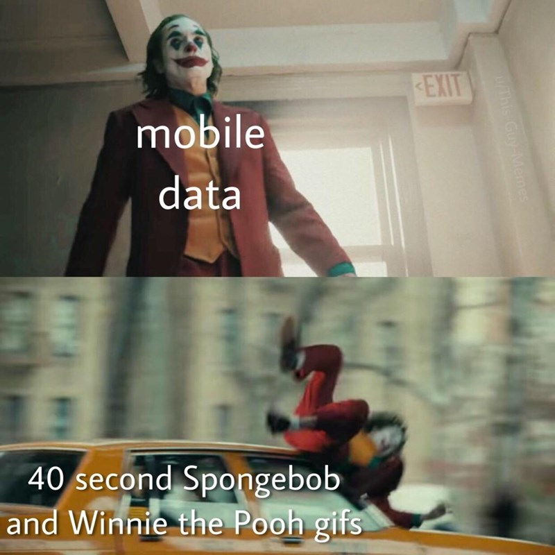 Fictional character - EXIT mobile data 40 second Spongebob and Winnie the Pooh gifs