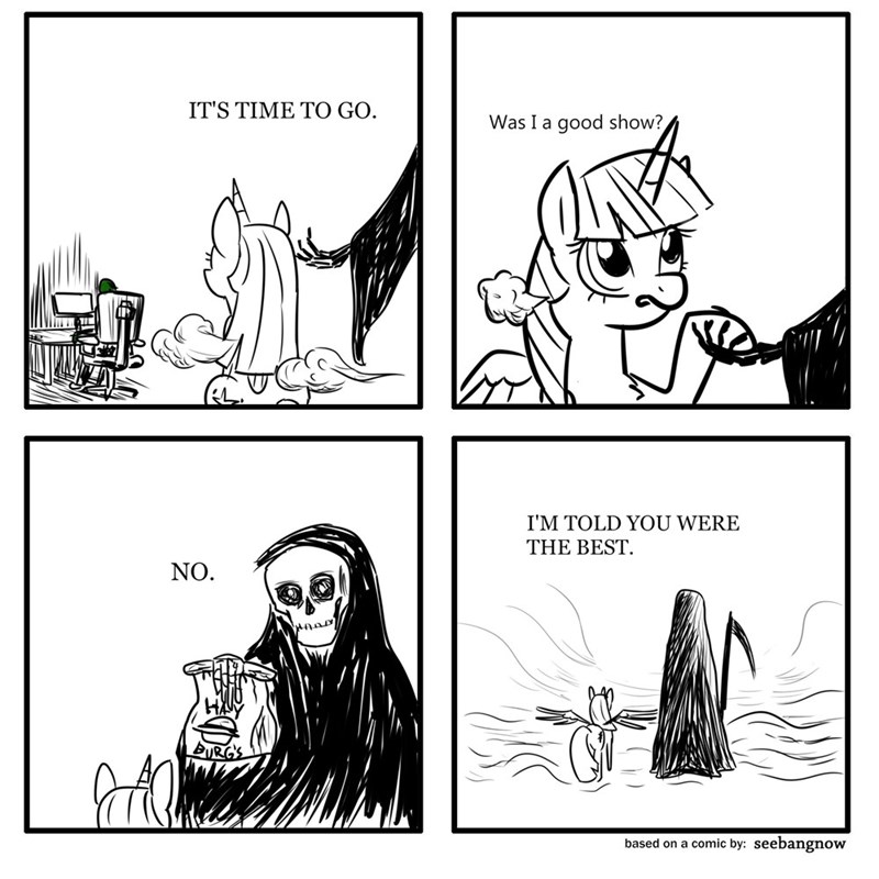 it's time to go Death twilight sparkle Memes lenny tribe - 9374119424