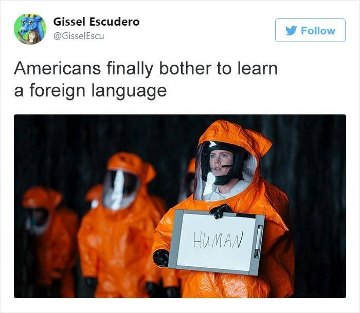 Orange - Gissel Escudero Follow @GisselEscu Americans finally bother to learn a foreign language HUMAN