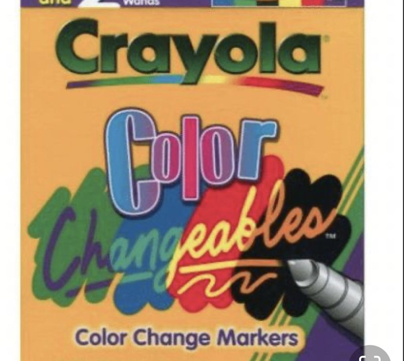 Text - Crayola TM Color Change Markers