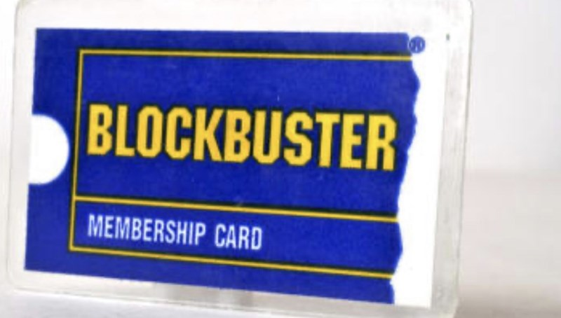 Label - BLOCKBUSTER MEMBERSHIP CARD