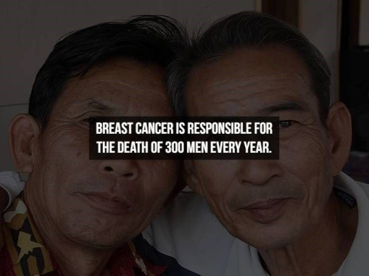Face - BREAST CANCER IS RESPONSIBLE FOR THE DEATH OF 300 MEN EVERY YEAR.