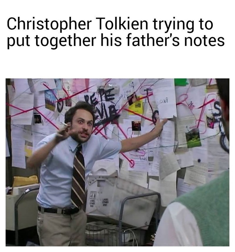 Text - Christopher Tolkien trying to put together his father's notes