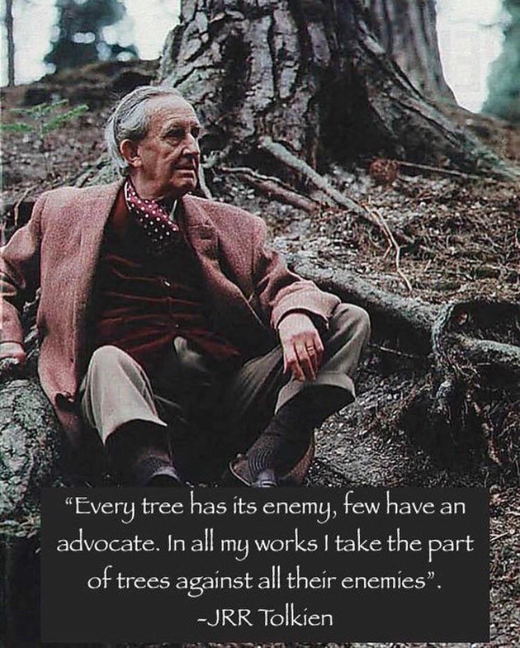 "Adaptation - ""Every tree has its enemy, few have an advocate. In all my works I take the part of trees against all their enemies"". -JRR Tolkien"