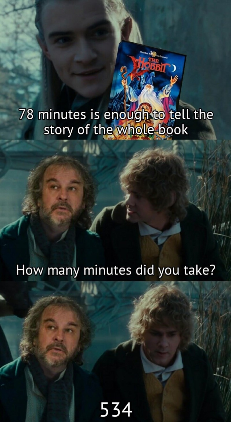 Movie - THE OBB 78 minutes is enough to tell the story of the whole book How many minutes did you take? 534