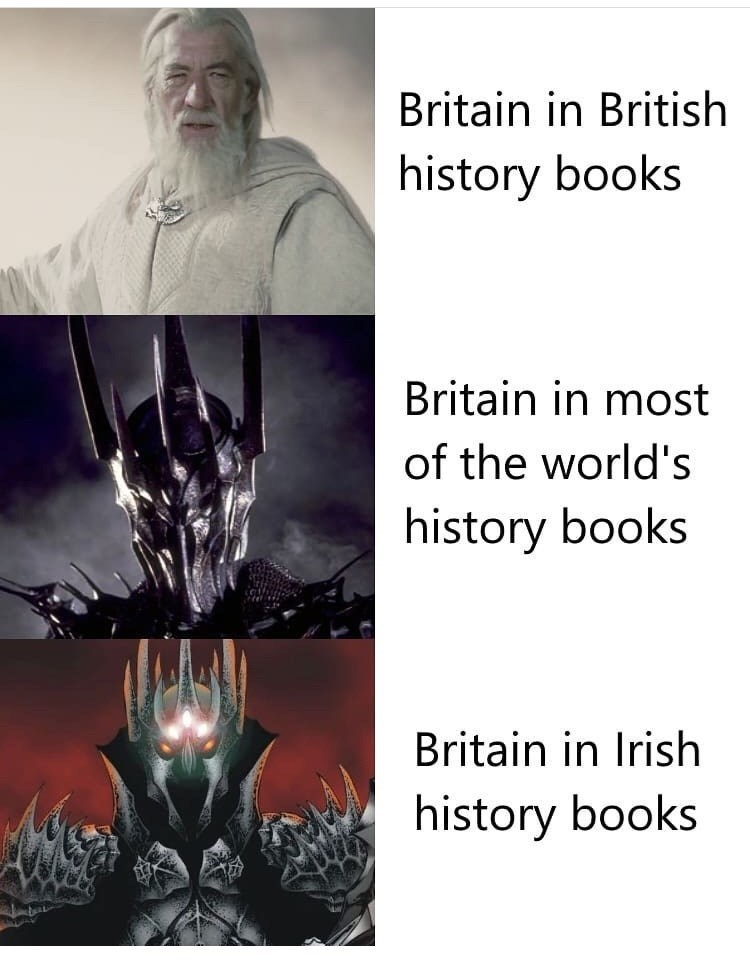 Fictional character - Britain in British history books Britain in most of the world's history books Britain in Irish history books