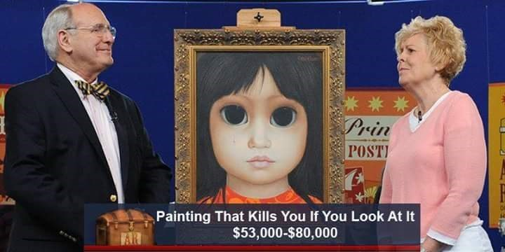 Head - 6die Prin POST Painting That Kills You If You Look At It $53,000-$80,000 AR