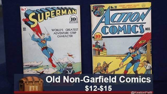 Comics - No.7 wos Ao come MAGAaM No.31 CTON COMICS SUPERMAN 10 WORLD'S GREATEST ADVENTURE-STRIP CHARACTER DEC 10 Old Non-Garfield Comics AR $12-$15 KeatonPatti