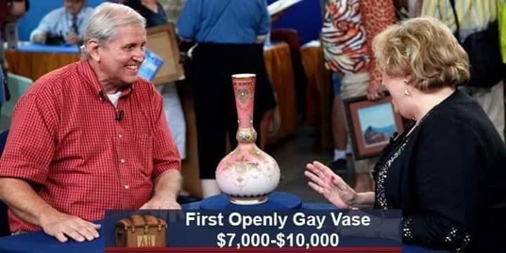 First Openly Gay Vase $7,000-$10,000 VAR