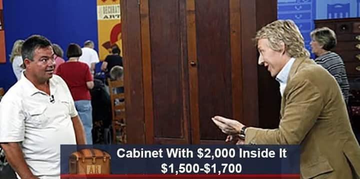 Job - RECRAT ART Cabinet With $2,000 Inside It $1,500-$1,700 WARI
