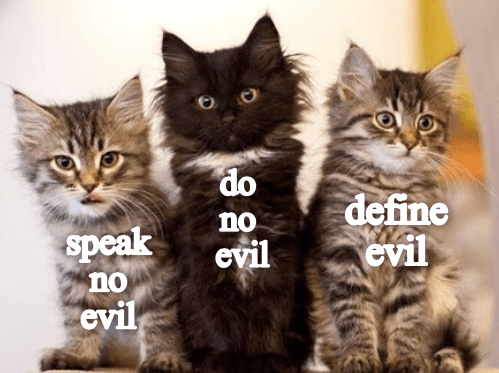 Cat - do define evil no speak no evil evil