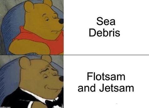 Cartoon - Sea Debris Flotsam and Jetsam matia.com