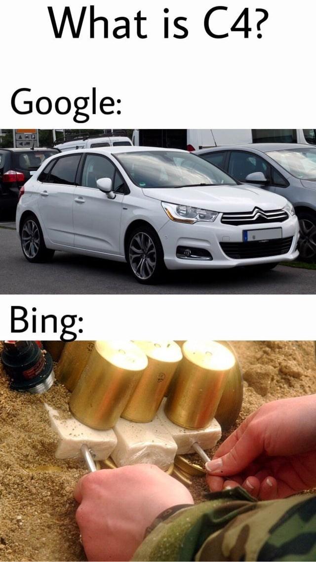 Vehicle - What is C4? Google: Bing:
