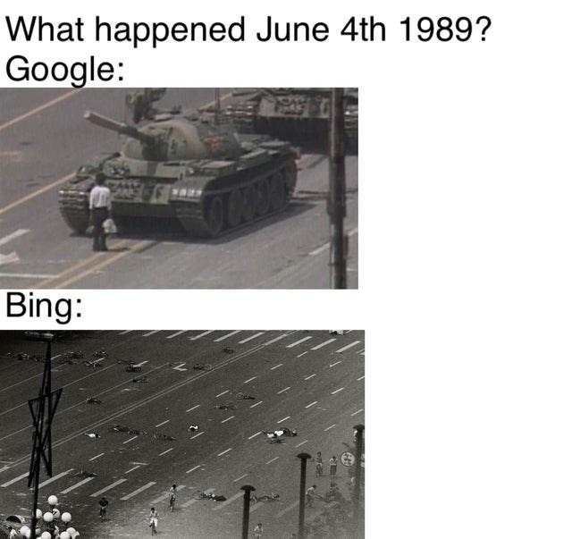 Tank - What happened June 4th 1989? Google: Bing: