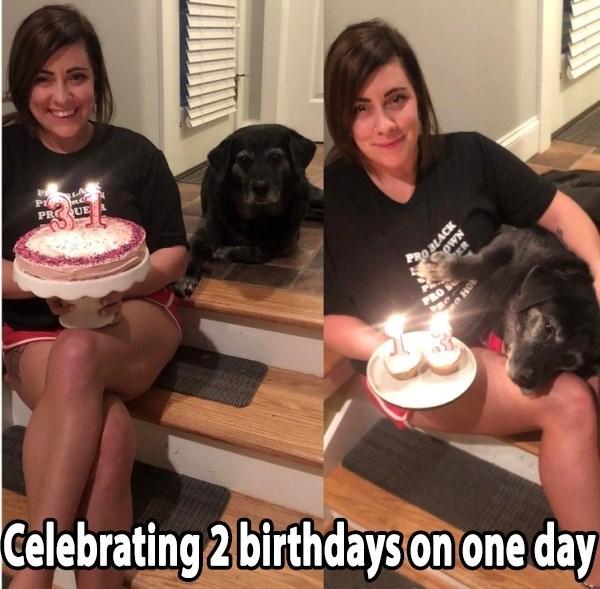Cake - Pr PR UE RO BLACK oWN P PRO S HO Celebrating 2 birthdays on one day