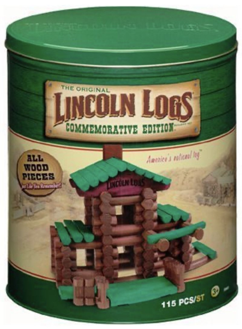 Wood stain - THE ORIGINAL LINCOLN LOGS COMMEMORATIVE EDITION ALL WOOD PIECES AReaice's votice/ In LONCOUN LOS 115 PCS/ST