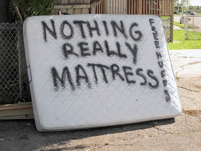 Text - NOTHING REALLY MATTRESS