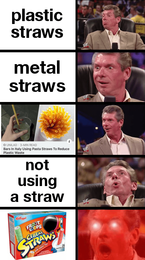 Photo caption - plastic straws metal straws OUNILAD 3-MIN READ Bars In Italy Using Pasta Straws To Reduce Plastic Waste not using a straw Nalogg's FHEOPS CEREAL STRAWS