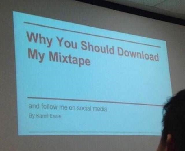 Text - Why You Should Download My Mixtape and follow me on social media By Kamil Essie