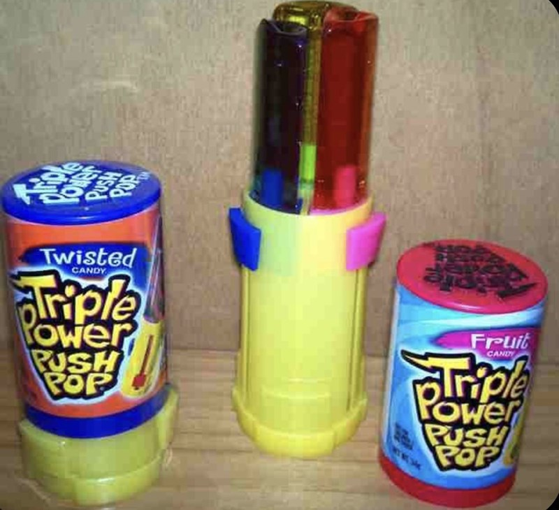Toy - Twisted CANDY Ower PUSH POP Fruit lrple Ower PUSH POP