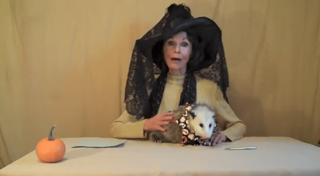 lady with opposom, opposum lady