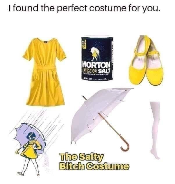Yellow - I found the perfect costume for you. MORTON UDIZED SALT EMLN1 The Salty Bitch Costume