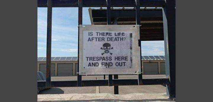 Font - IS THERE LIFE AFTER DEATH? TRESPASS HERE AND FIND OUT