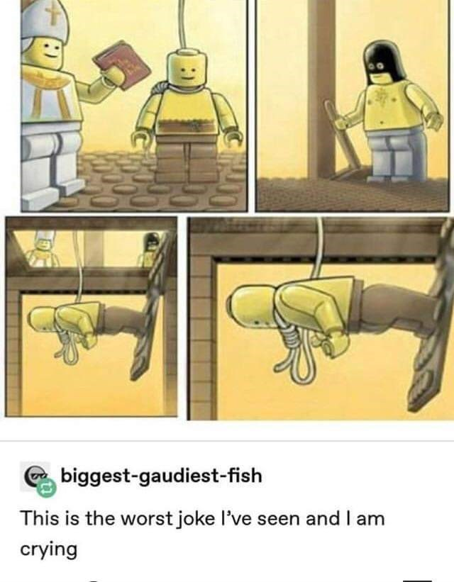 Cartoon - biggest-gaudiest-fish This is the worst joke l've seen and I am crying