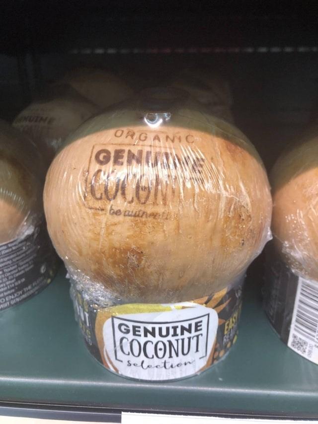 Food - ORGAN Ch GEN UCONT be aitnert an 9ENJOY TE GENUINE EAS COCONUT Selectien